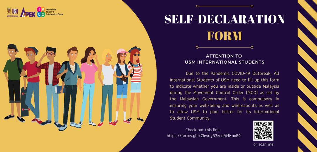 Poster Self Declaration Form Covid 19